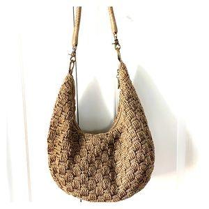 The Sak Brown Crochet Hobo Bag